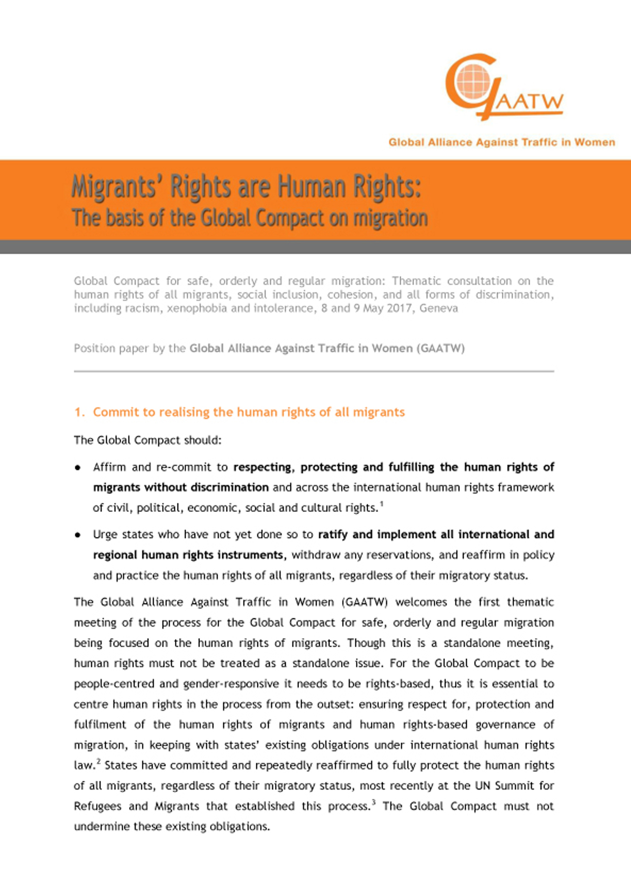 GAATW Position Paper MigrantRightsAreHumanRights GlobalCompact.06
